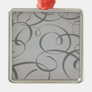 Diseños de la plata adorno cuadrado plateado