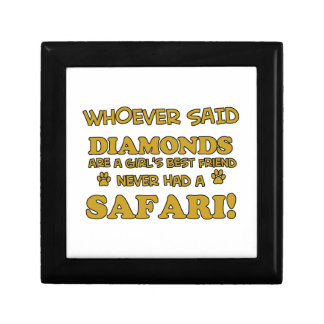 Diseños de la raza del gato del safari cajas de recuerdo