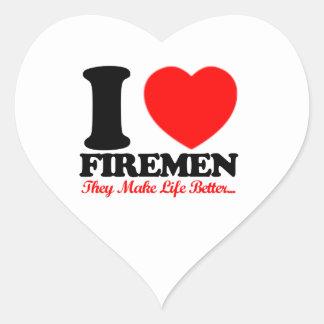 diseños de los bomberos calcomanías corazones personalizadas
