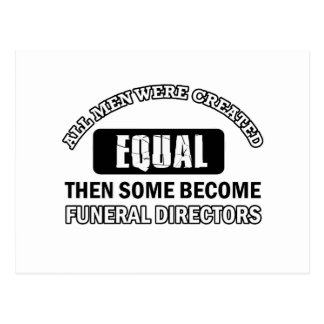 Diseños de los directores de funeraria postal