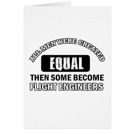 Diseños de los ingenieros de vuelo felicitación