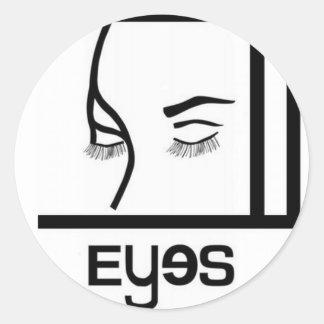 diseños de los ojos pegatina
