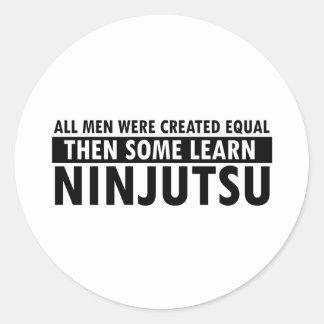 Diseños de Ninjutsu Etiqueta Redonda