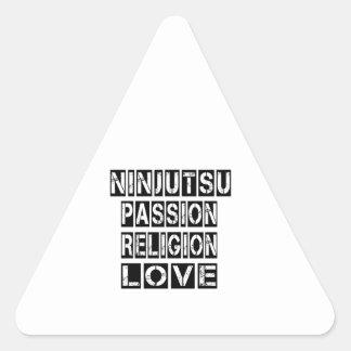 Diseños de Ninjutsu Pegatina Triangular