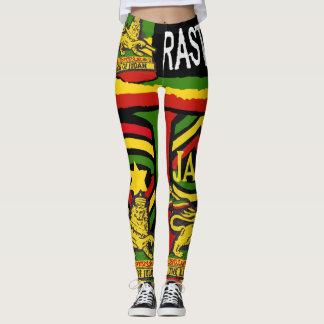 Diseños de Rastafarian de las polainas de los Leggings