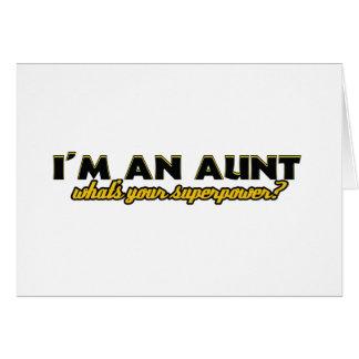 Diseños de tía Superpower Felicitaciones