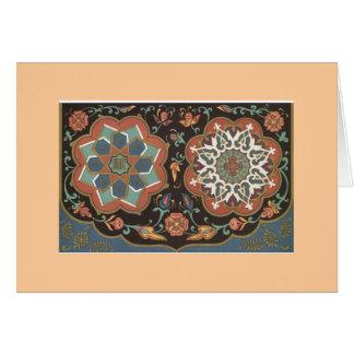 Diseños del árabe del vintage tarjeta pequeña