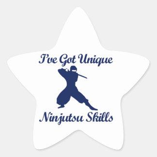 diseños del arte marcial del ninjutsu calcomanias forma de estrella