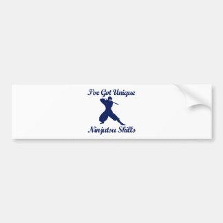 diseños del arte marcial del ninjutsu etiqueta de parachoque