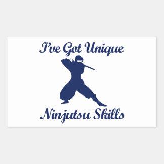 diseños del arte marcial del ninjutsu pegatina rectangular