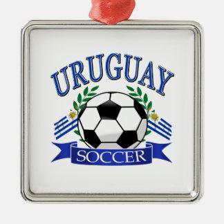 Diseños del balón de fútbol de Uruguay Adorno Navideño Cuadrado De Metal