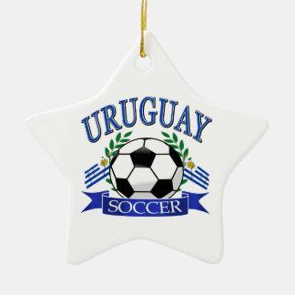 Diseños del balón de fútbol de Uruguay Adorno Navideño De Cerámica En Forma De Estrella