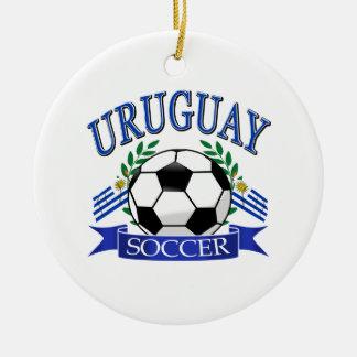 Diseños del balón de fútbol de Uruguay Adorno Navideño Redondo De Cerámica