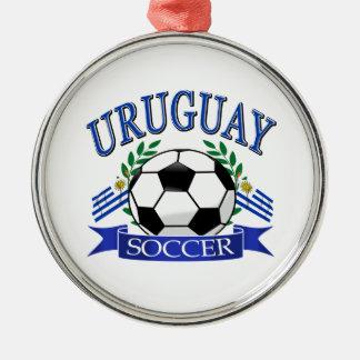 Diseños del balón de fútbol de Uruguay Adorno Navideño Redondo De Metal