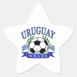 Diseños del balón de fútbol de Uruguay Pegatina En Forma De Estrella