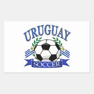 Diseños del balón de fútbol de Uruguay Pegatina Rectangular