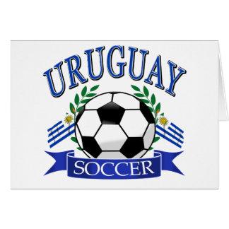 Diseños del balón de fútbol de Uruguay Tarjeta De Felicitación