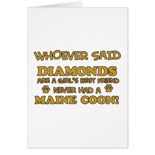 Diseños del coon de Maine Tarjeta De Felicitación