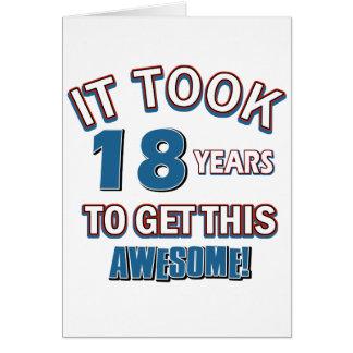 diseños del cumpleaños de 18 años tarjeta