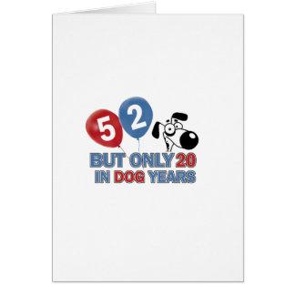 diseños del cumpleaños de 52 años felicitación