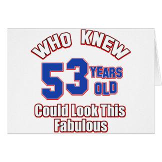 diseños del cumpleaños de 52 años tarjeta