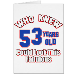 diseños del cumpleaños de 52 años tarjeta de felicitación