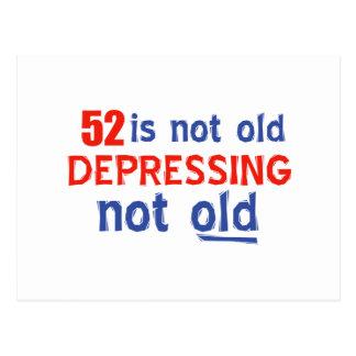 diseños del cumpleaños de 52 años tarjeta postal