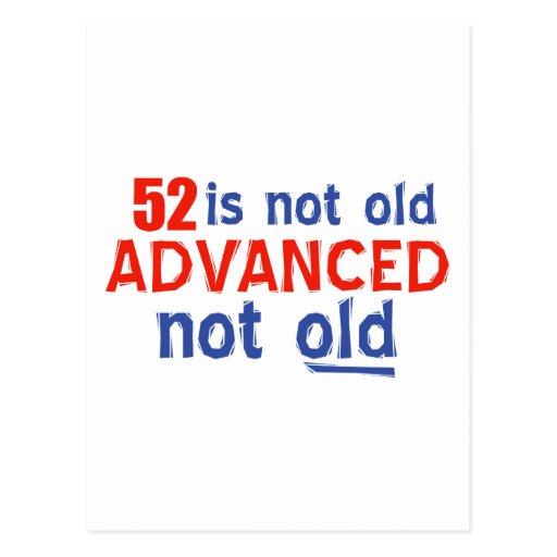 diseños del cumpleaños de 52 años tarjetas postales