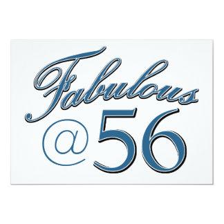 diseños del cumpleaños de 56 años invitación 12,7 x 17,8 cm