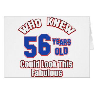diseños del cumpleaños de 56 años tarjeton