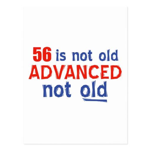 diseños del cumpleaños de 56 años tarjetas postales