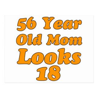 diseños del cumpleaños de 56 años tarjeta postal