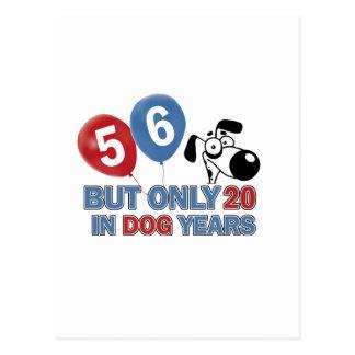 diseños del cumpleaños de 56 años postal