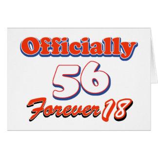 diseños del cumpleaños de 56 años tarjetón