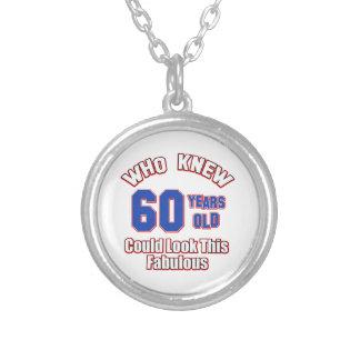 diseños del cumpleaños de 60 años grimpola personalizada