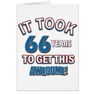 diseños del cumpleaños de 66 años tarjeton