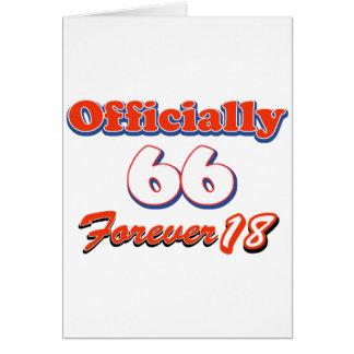 diseños del cumpleaños de 66 años tarjeta de felicitación