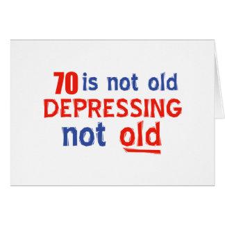 diseños del cumpleaños de 70 años tarjeta de felicitación