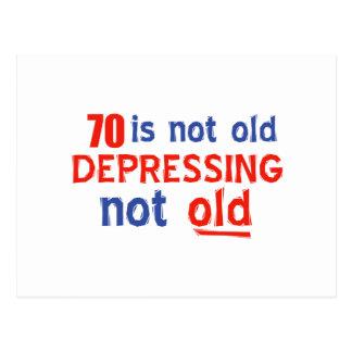 diseños del cumpleaños de 70 años postal