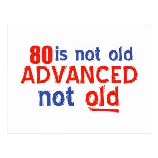 diseños del cumpleaños de 80 años postal
