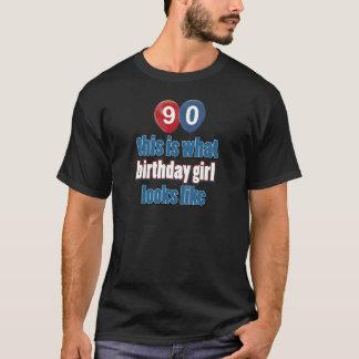 diseños del cumpleaños de 90 años camiseta