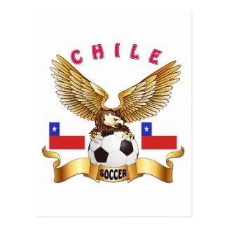 Diseños del fútbol de Chile Postal