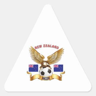 Diseños del fútbol de Nueva Zelanda Colcomanias De Trianguladas