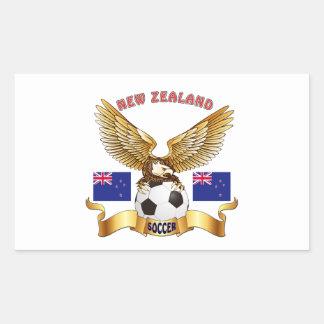 Diseños del fútbol de Nueva Zelanda Pegatina Rectangular