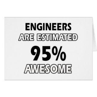 diseños del ingeniero tarjeta de felicitación
