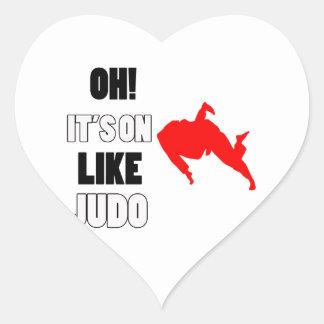 Diseños del judo pegatina corazón