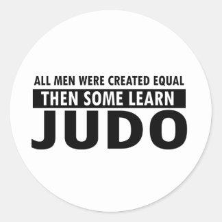 diseños del judo pegatina redonda