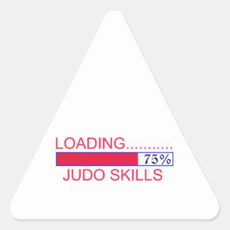 Diseños del judo pegatina triangular