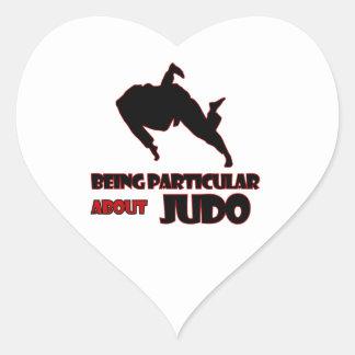 diseños del judo pegatina en forma de corazón