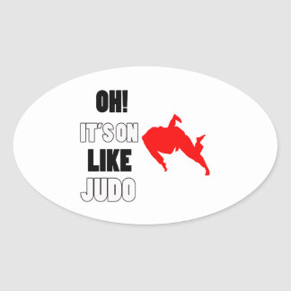 Diseños del judo pegatina ovalada